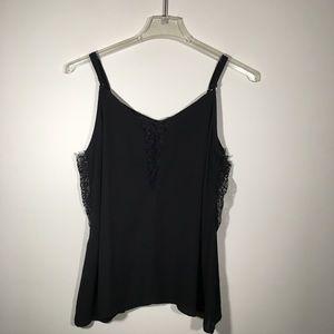 Torrid Black Camisole with lace SZ 0/L